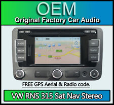 VW Beetle RNS 315, Sat Nav radio stereo CD player AUX SD navigation with code