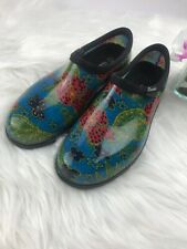 Sloggers size 10 women's Waterproof Rain Garden Shoes multicolored