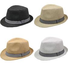 e46fae1cd6c Fedora Hat BROWN BLACK WHITE Men Wedding Dress Formal CAP WOMEN
