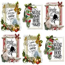 DECK THE HALLS 12 Embellishments, Card Making Toppers, Card Toppers