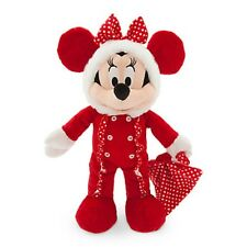 """MINNIE MOUSE HOLIDAY PLUSH BABY 15"""" QUILTED SLEEPER ELF DISNEY STORE PATCH NWT"""