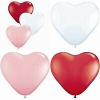 Love Heart Shaped Balloons 100 x 6 inch Mini Small Latex Helium Arch Wedding