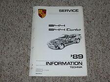 1989 Porsche 944 & Turbo Shop Service Repair Workshop Manual Coupe 2.5L 2.7L