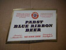 New listing Pabst Blue Ribbon Withdrawal 1 Quart Beer Label~Pabst,Milwaukee,Wis #9