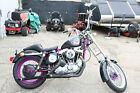 1974 Harley-Davidson Sportster  1974 Harley Davidson Sportster, Black / Purple, 997cc , Motorcycle NEEDS WORK