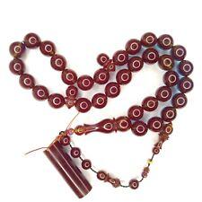 Turkish Amberoid Worry Beads SIKMA Kehribar Tesbih Prayer Tasbih Misbaha Eid 759