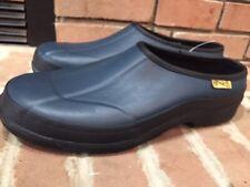 Ranger Ladybug Womens Garden Waterproof Slip On Blue Rubber Shoes/ Clog Size 11