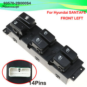 Left Front Power Window Switch for Hyundai Santa Fe CM 2007-2011 93570-2B000S4