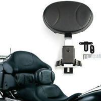 Adjustable Plug in Driver Rider Backrest For Harley Touring FLTR FLHT FLHR 97-19