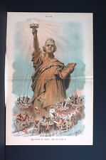 Statue of Liberty 1886 CONSTITUTION EQUAL RIGHTS LIFE PURSUIT of HAPPINESS Puck