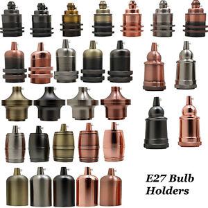 ES E27 Edison Screw Cap Socket Fitting Pendant Ceiling Light Lamp Bulb Holder