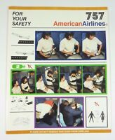 AMERICAN AIRLINES Safety Card 757 *NOAG