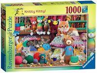 NEW! Ravensburger Knitty Kitty by Steve Read 1000 piece nostalgic jigsaw puzzle