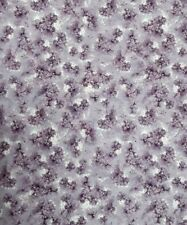 "New 44"", Fabri-Quilt, ""Tulle & Petals"" Purple Floral Design, 100% COTTON BTY"