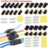 Motorcycle 15 Kit 2 3 4 Pin Waterproof Electrical Cable Wire Connector Plug Car