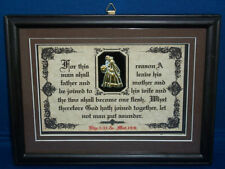 FOR THIS REASON A MAN SHALL LEAVE-Bible Scripture Plaque Christain,Wedding Gifts
