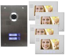 2-Familienhaus Video Türsprechanlage Gegensprechanlage mit 4 X 7 '' Monitor
