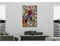 The Amazing Spiderman Marvel Comics Super Hero Collage Canvas Wall Art Print