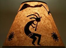 "KOKOPELLI LAMP SHADE RUSTIC PARCHMENT PAPER 12"" CLIP ON LODGE LOG CABIN INDIAN"