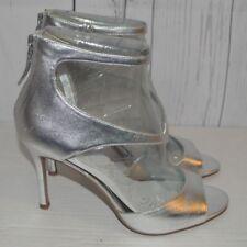Nine West Women's Shoe Festivitie Dress Sandal Silver 9.5 Medium