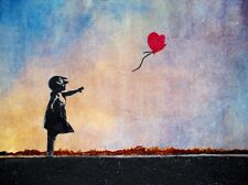 BANKSY ART PRINTS. THE PRINT IS A4 SIZE GIRL AND BALLOON NEW NOT BANKSY