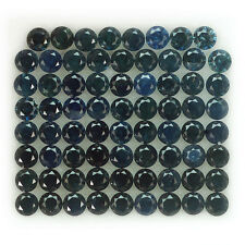 3.25CT MARVELOUS 71PCS 2.0MM DIAMOND CUT GREEN BLUE HEATED ONLY SAPPHIRE