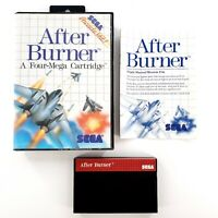 After Burner (Sega Master, 1988) Authentic Complete Tested & Works