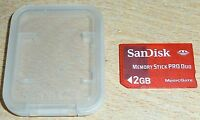 2GB SANDISK MEMORY STICK PRO DUO CARD for SONY PLAYSTATION PSP MS DUO 2 GB Case