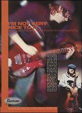Ibanez Jet King Guitar 8 x 11 ad w/ Division of Laura Lee guitarist David Ojala