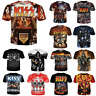 New Men/Womens KISS Band Series Player 3D Print Casual T-Shirt Short Sleeve