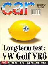 CAR magazine Apr 1994 Ferrari 456GT Aston Vantage VW BeetleVW Corrado Celica