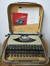 VINTAGE GROMA KOLIBRI PORTABLE TYPEWRITER / CASE GERMANY-USSR Tested A++ RARE