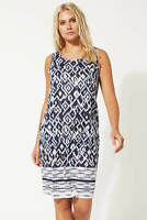 Roman Originals Women Abstract Print Slouch Summer Beach Holiday Shift Dress