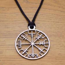 Cool Fashion Viking Vegvisir brújula Colgante Collar Colgante de Odin/'s symbal