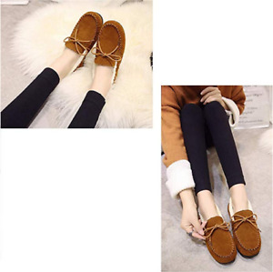 Women's Slip On Moccasin Comfy Warm Lined Slip-On Loafers Soft Slippers Shoes