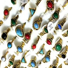 100 include Display Gold Rings turquoise Stone Jewelry Women cute ring wholesale