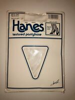 NOS VINTAGE 90'S HANES TEXTURED 1808 WHITE FRENCH LACE PANTYHOSE C-D