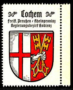 75) Kaffee Hag 1925 Cochem Rheinprovinz Koblenz Werbemarke Städtewappen