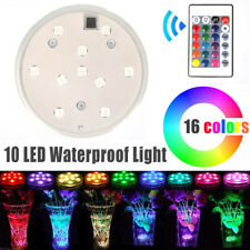 Waterproof Submersible LED Tea Lights Electronic Candle Battery Wedding Vase