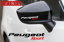 PEUGEOT SPORT SILVER VINYL SYMBOL MIRROR DECALS STICKERS GRAPHICS x2