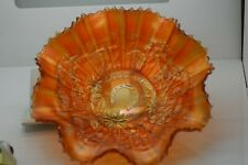 Carnival Glass Vintage Northwood Good Luck Marigold Bowl