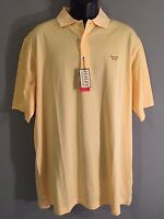 NWT New Haley Signature Performance Mens Size XL Yellow Short Sleeve Polo Shirt