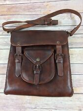 Vintage Handmade Bull Leather Satchel Purse.