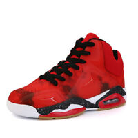 Men's Air Cushion Basketball Shoes Sports Sneakers High Top Athletic Breathable