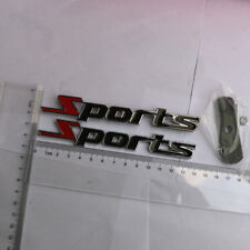 Sports Black Red Metal Grille Emblem + Badge Sticker Coupe 3D Motor turbocharged