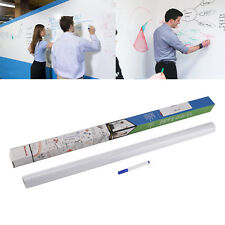 60*200cm Removable DRY WIPE Whiteboard Vinyl Wall Sticker Office Home W/1 Marker