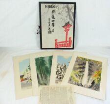 "EIICHI KOTOZUKA UCHIDA ""FOUR SEASONS OF NIKKO"" JAPANESE WOODBLOCK PRINTS"