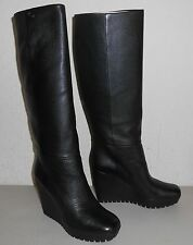 Gucci Knee High Boots Leather Wedge Shoes for Women | eBay
