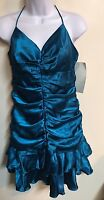 NWT URBAN GIRL NITES Teal Blue Knee Length Formal Cocktail Dress Size 9/10