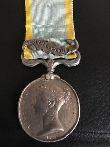 Crimean War Medal Unnamed As Issued To Marines And Navy…With Sebastopol Clasp